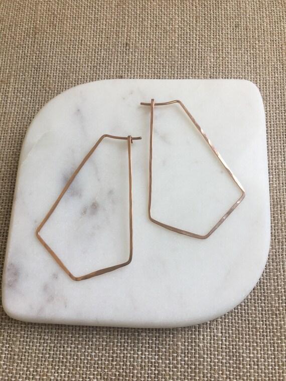 Rose Gold-Fill Geometric Hoop Earrings