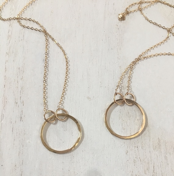 14k gold-fill ring necklace