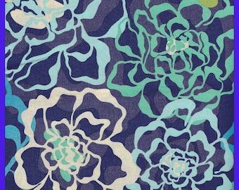 KATALINA BLUES Vera Bradley Retired Cotton Fabric, Fall 2015, Purse Tote Lining, 38 x 60 inch, Purses, Totes, Backpacks, Wallets, Earbud Bag