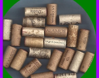 ON SALE Natural Cork Corks Wine Used No Synthetic Crafts Key Ring Trivets Multiples of 10
