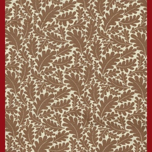 Golden Yellow Leaf Calico Quilting Cotton Fabric Fall Oak Leaves HALF Yard 18 x 44 Inch