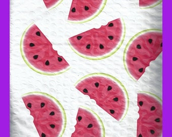 ON SALE Watermelon Poly BUBBLE Mailer Envelopes 8.5 x 12 Inch Size Set of 10 Self Adhesive