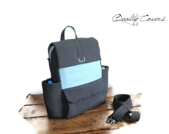 Convertible Backpack Laptop - Customizable for Color Fabrics and Size - Fully PADDED with foam 8mm - Compartment Laptop Super PADDED
