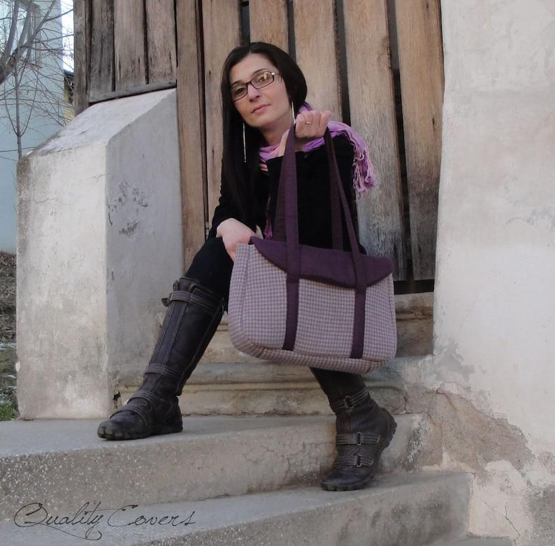 Shoulder Bag WATERPROOF lining Customizable Laptop bag for Color Fabric and Size Handbag Everyday bag Tote bag Fully Padded Bag