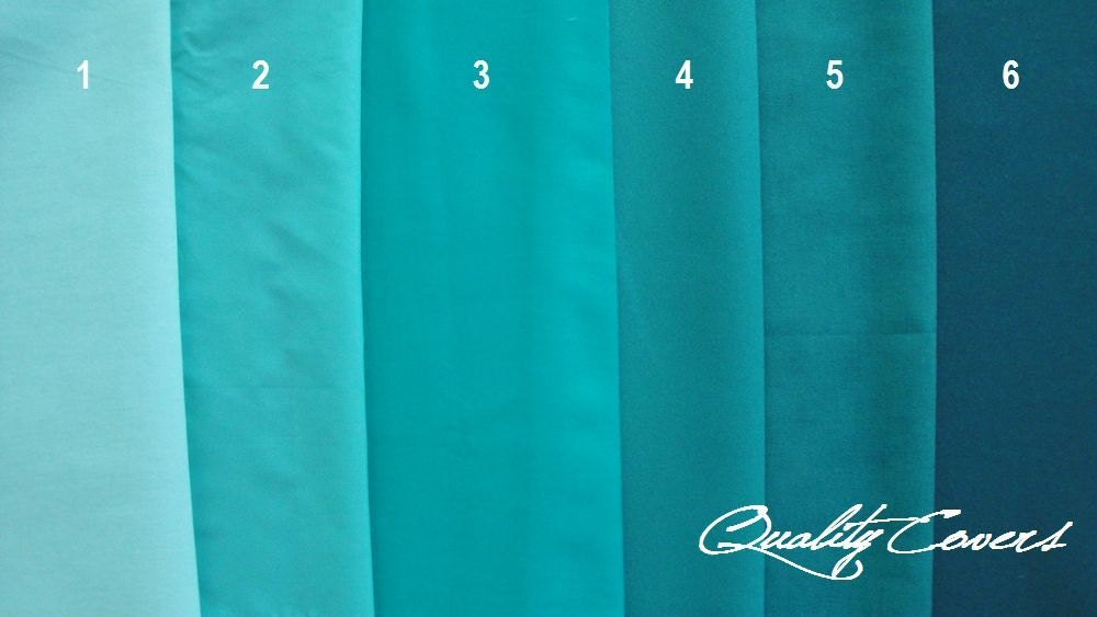 Shades of Teal Green and Green Fabrics for Customizable ...