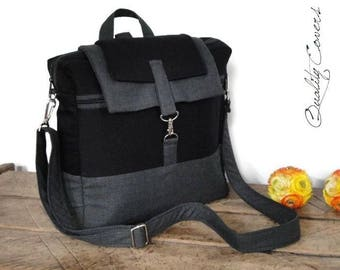 Convertible Backpack Laptop /Customizable Backpack for Color Fabrics and Size / Fully PADDED with foam 8mm / Compartment Laptop Super PADDED