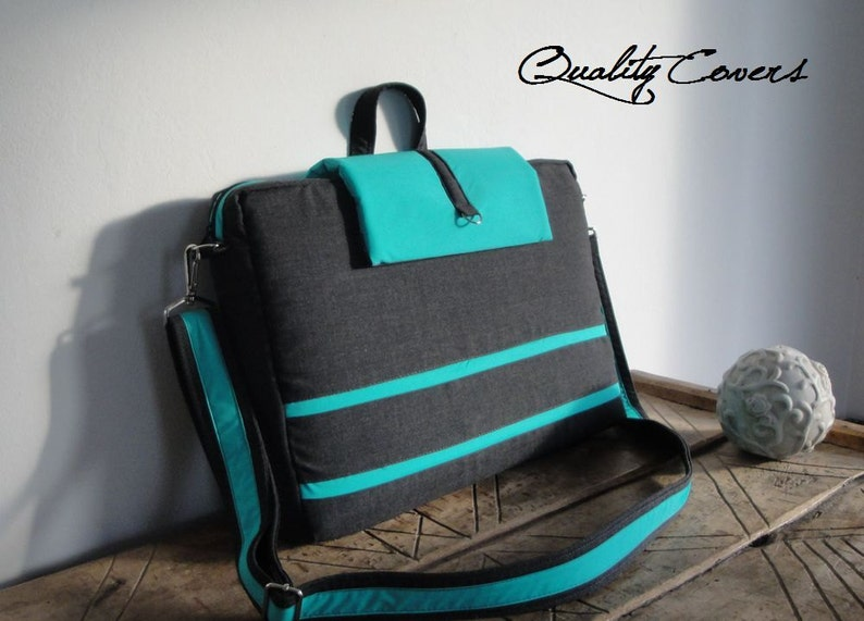 Messenger bag  PADDED can be any size and color Made to Order Customizable Laptop bag