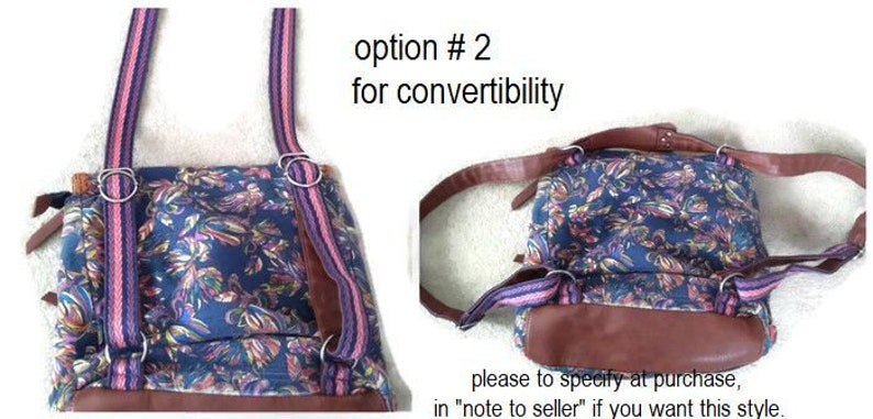 Laptop Backpack  Bag  Convertible Customizable for Color Fabrics and Size laptop COMPARTMENT