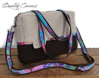 Customizable for Colors Fabric and Size Laptop bag - Messenger laptop bag - Shoulder bag - Tote bag-Laptop Compartment-Fully Padded-pockets