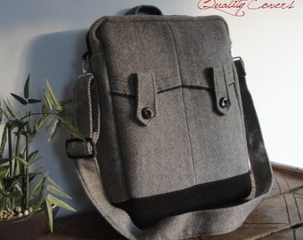 Convertible Laptop Backpack - Messenger Bag - laptop COMPARTMENT- Fully Padded - interior Pockets