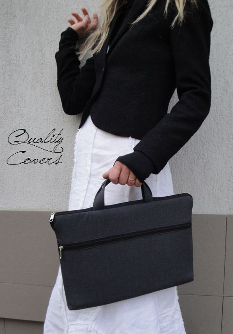 choose Customizable for Color Fabric and Sizes Laptop Bag-fully PADDED bag-Waterproof lining-exterior Large pocket TOTE or BRIEFCASE bag