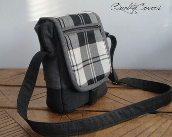 Everyday Messenger Bag - Customizable for Color Fabrics - FULLY padded - WATERPROOF lining - interior Pockets