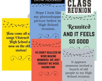 Class Reunion | Digital Downloads | Printable Posters