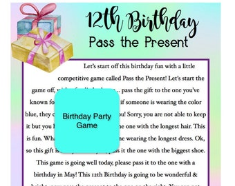 picture relating to Free Printable Left Right Birthday Game titled P the poem Etsy