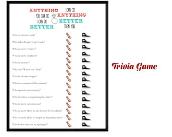 bridal shower game wedding shower game engagement party game bridal trivia anything better i can do