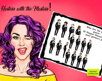 Who has the GROOM game | Printable Game | Bachelorette Party| Bridal Party