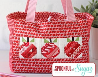 Apple Lunch Tote PDF Sewing Pattern