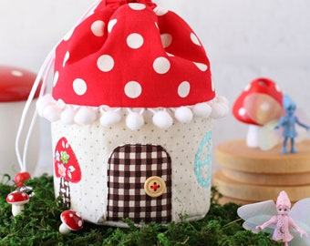 Mushroom House Pouch PDF Sewing Pattern