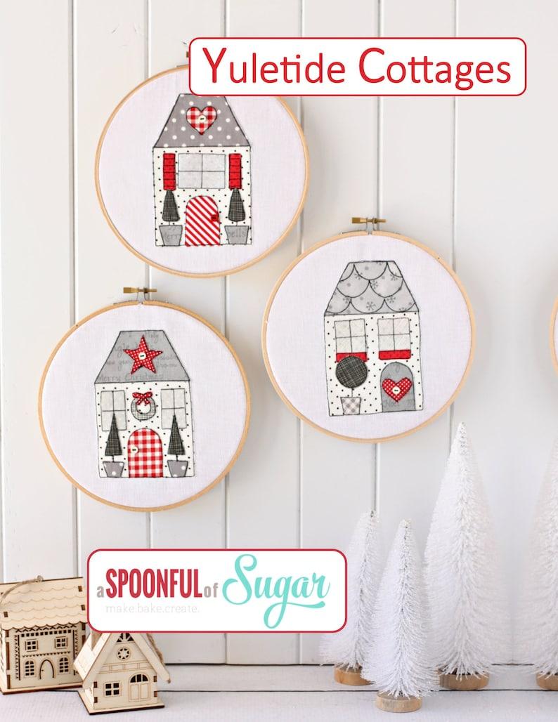 Yuletide Cottages PDF Sewing Pattern image 0