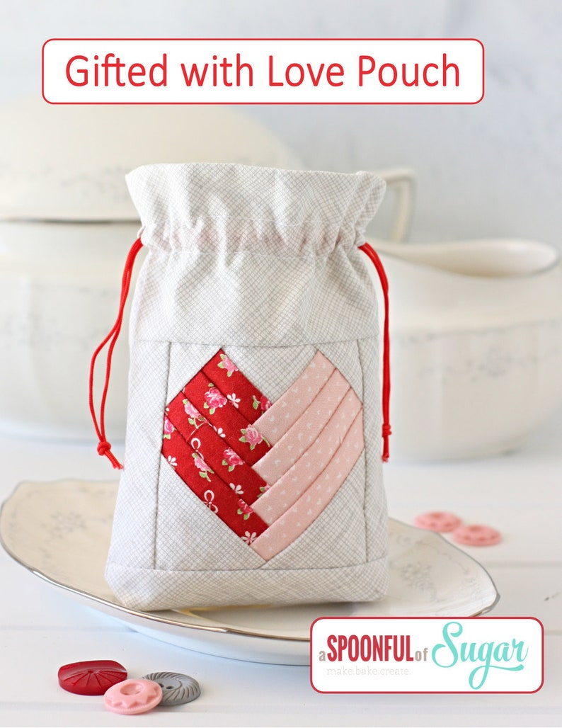 Gifted With Love Pouch PDF Sewing Pattern image 0