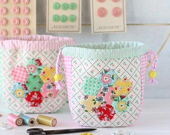 Hexie Garden Pouch PDF Sewing Pattern