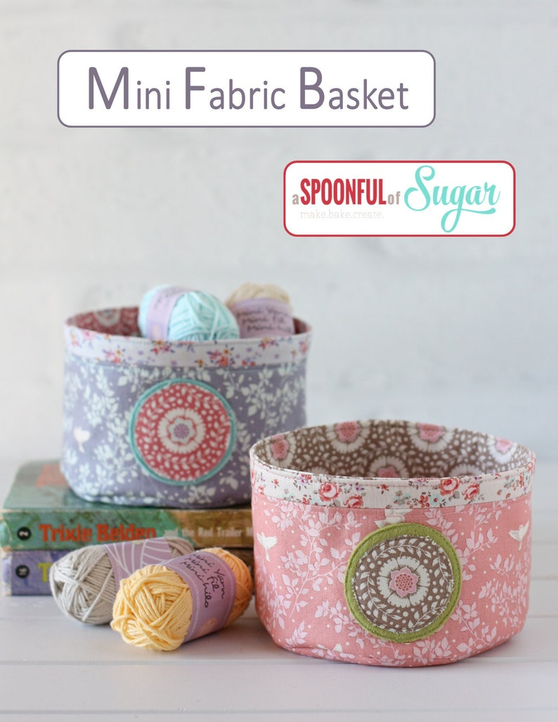 Mini Fabric Basket PDF Sewing Pattern image 0