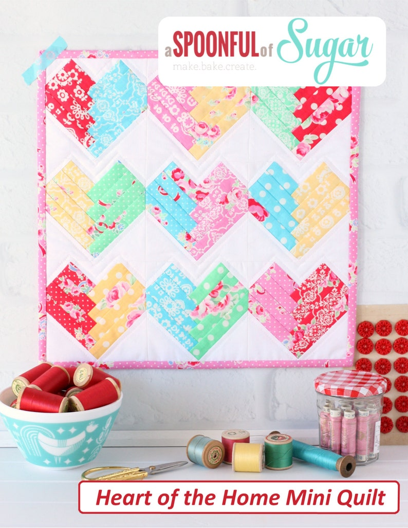 Heart of the Home Mini Quilt PDF Sewing Pattern image 0