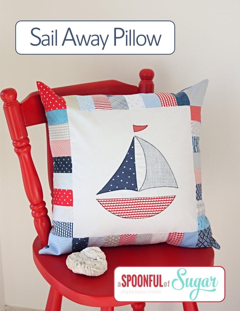 Sail Away Pillow PDF Sewing Pattern image 0