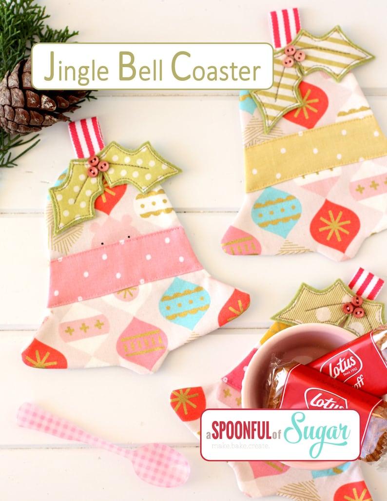 Jingle Bell Coaster PDF Sewing Pattern image 0