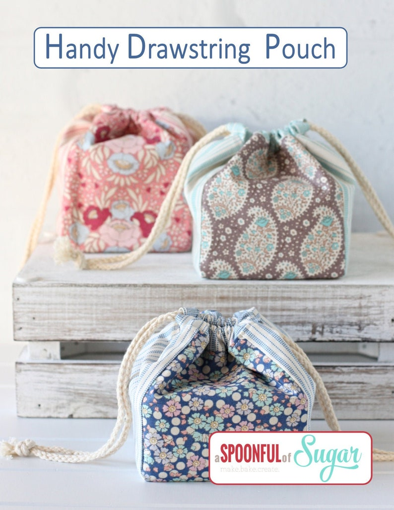 Handy Drawstring Pouch PDF Sewing Pattern image 0