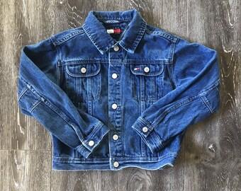 e0d19336 Vintage Kids Tommy Hilfiger Denim Jacket