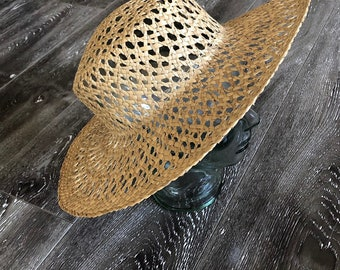 34a6486a Vintage Natural Straw Hat
