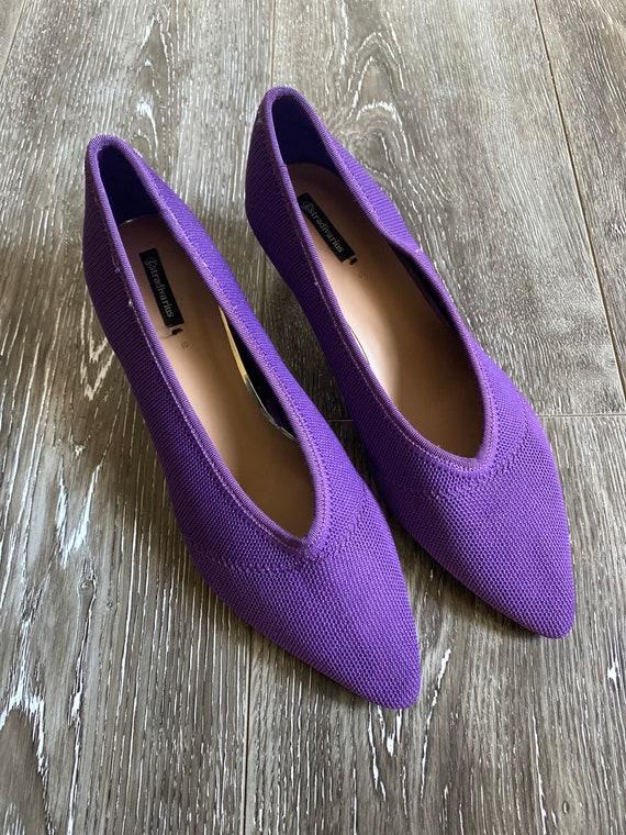 Vintage Purple Mesh Kitten Heels