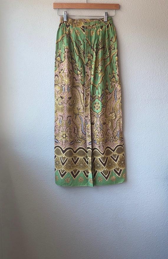 Vintage Batik Print Skirt