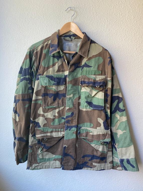 Vintage Camo Military Jacket