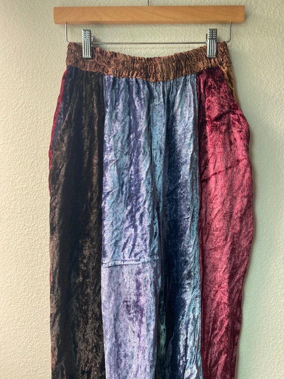 Vintage Patchwork Velvet Pants