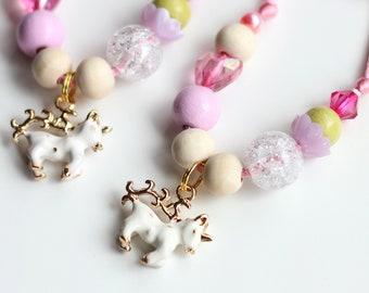 Unicorn Necklace, Charm Necklace, Unicorn Pendant, Unicorn Party, Unicorn Birthday, Gift For Kids, Pastel Unicorn, Rainbow Unicorn