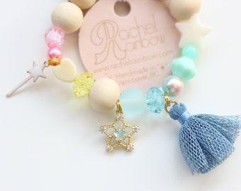 Kids Bracelet, Beaded Bracelet, Gift For Kids, Tassel Bracelet, Charm Bracelet, Wish Bracelet, Tiny Star, Stars,