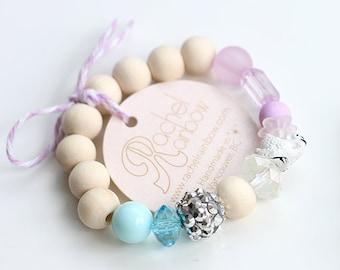 Kids Bracelet, Swan, Swan Princess, Beaded Bracelet, Gift For Kids