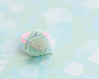 Statement Ring, Flower Fairy Gift, Leaf Ring, Gift For Kids, Fairy, Floral