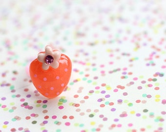 Statement Ring, Tutti Fruity, Tutti Fruity Party, Strawberry Ring, Gift For Kids