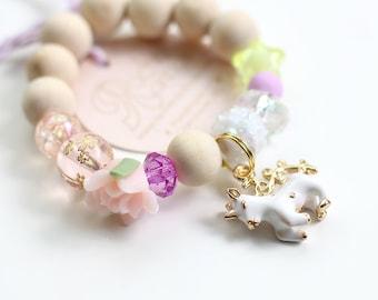 Kids Bracelet, Unicorn Charm, Unicorn Party, Unicorn Birthday, Beaded Bracelet, Gift For Kids, Unicorn Mermaid