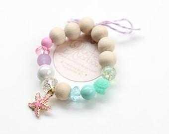 Kids Bracelet, Mermaids, Mermaid Party, Mermaid Birthday, Beaded Bracelet, Gift For Kids