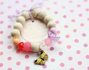 Kids Bracelet, Nature Inspired, Monarch, Butterfly, Beaded Bracelet, Gift For Kids, Nature Lover