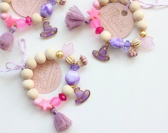Halloween Bracelet, Witch Bracelet, Halloween Jewelry, Kids Bracelet, Halloween, Beaded Bracelet, Gift For Kids, Toddler Bracelet