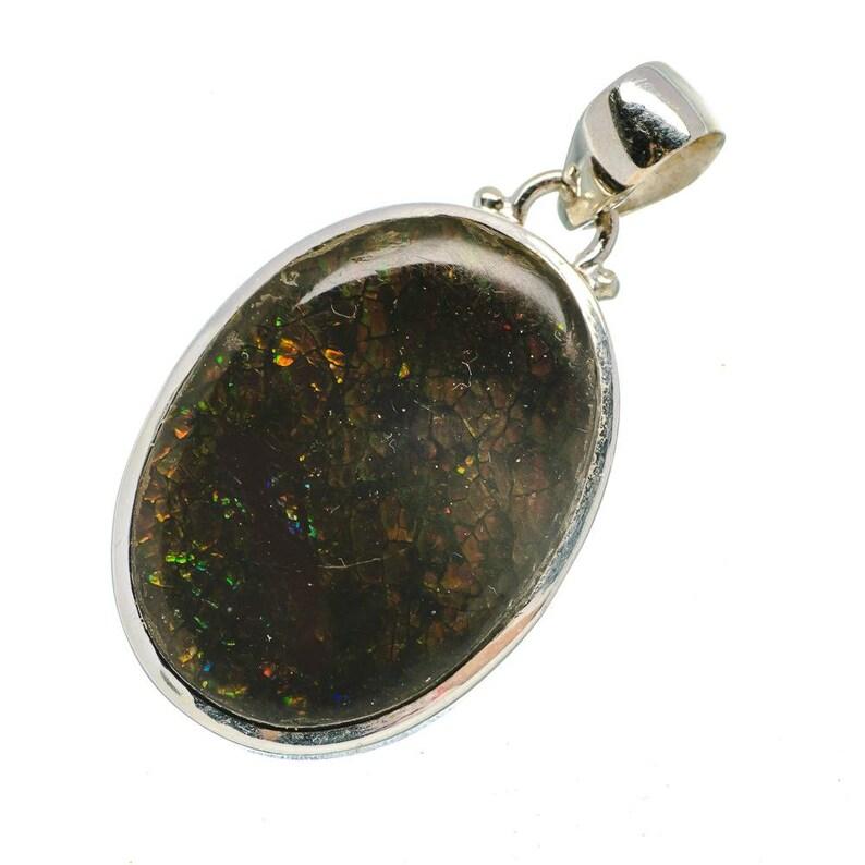 PD688742 Ammolite Pendants 1 34 925 Sterling Silver