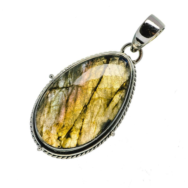 925 Sterling Silver Labradorite Pendant 1 34 PD689493