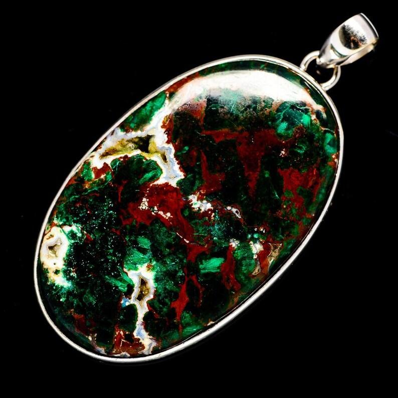Beautiful Chrysocolla Top Quality Gemstone Pendant 925-Sterling Silver Pendant Antique Silver Pendant Small Size Pendant