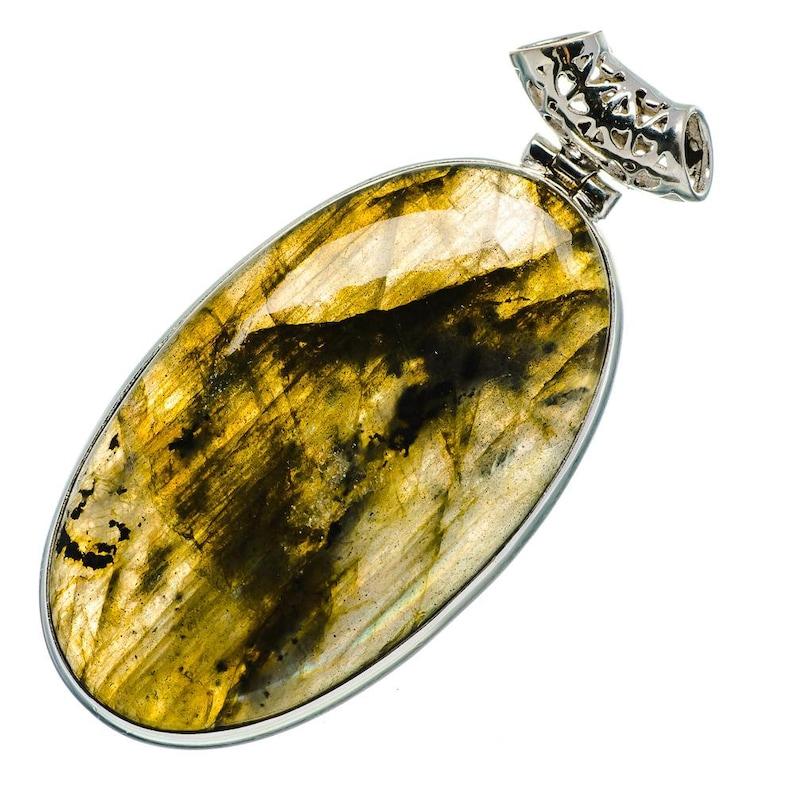 925 Sterling Silver Labradorite Pendant 2 18 PD683457