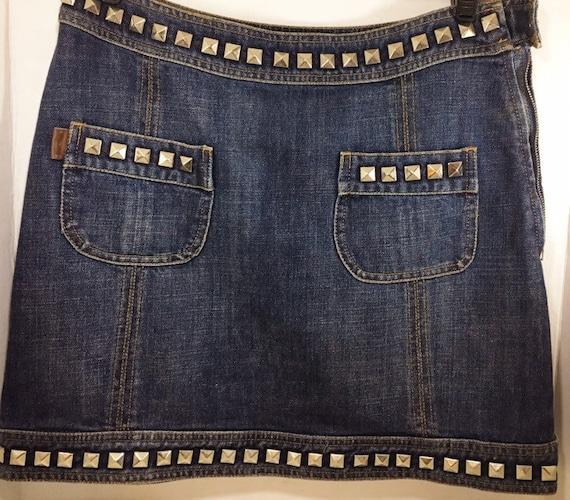 Moschino Jeans Studded Denim Skirt US size 8